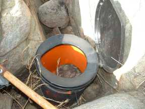 portable toilet holding geocache